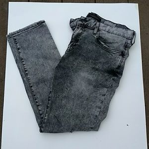 Excellent condition gray light distressed jeans